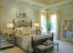 Sherwin williams contented green in master bedroom for R furniture arroyo grande