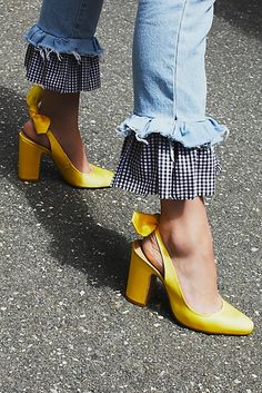 Gingham and yellow