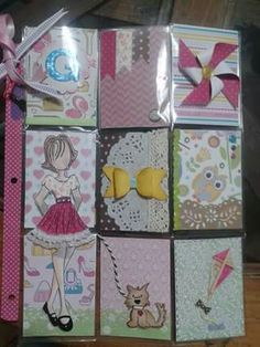 Pocket Leatter tema libre con sello Prima Dolly