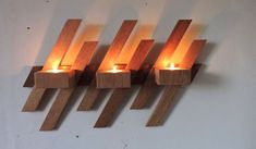 Wall candle holderWall Mounted Wooden Candle by MKKwoodenstuff