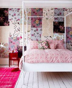 Usando o patchwork nas paredes
