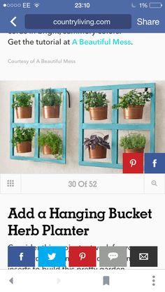 Herb Planters, Beautiful Mess, Herbs, Garden, Plants, Home Decor, Homemade Home Decor, Garten, Herb