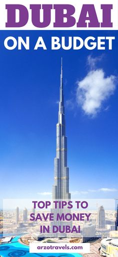 Top tips to save money on your trip to pricey Dubai. #Dubai on a budget, what to do and see when you visit Dubai, United Arab Emirates, on a budget.