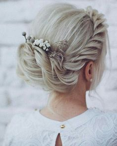 Wedding updo braid