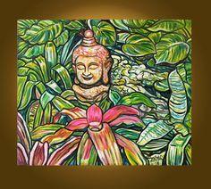 Art Painting Etsy Original Painting  Buddha by ElizabethGraf, $159.00
