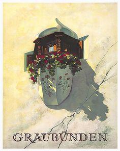 Swiss Art Travel Poster Print Wall Decor XR125 by Blivingstons