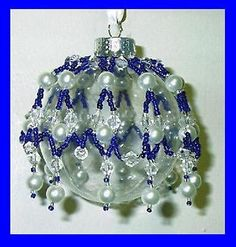 VICTORIAN INSPIRED BEADED CHRISTMAS ORNAMENT COVER PATTERN - TUTORIAL X-10  (10)