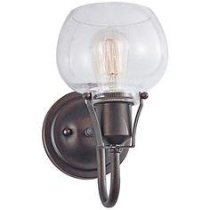 "Feiss Urban Renewal 10 1/4"" High Rustic Iron Sconce - #3M608 | www.lampsplus.com"