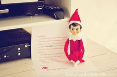 such cute elf on a shelf ideas!
