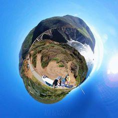 Tiny Sur  #bigsur #california #scenic #nature #sea #ocean #landscape #tinyplanet #lifein360 #lifeis360 #tinyplanetbuff #littleplanet #lifeincolor360 #360photo #360planet #instalittleplanet #360camera #360photography #photography  #photosphere #360panorama #snapshot #instagood #photooftheday #explorein360 #camerafun #travel #exploring #samsung #gear360