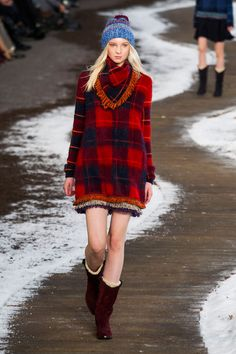 Tommy Hilfiger at New York Fall 2014 RTW. Beautiful colors.