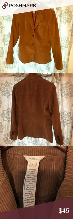 J. Crew corduroy blazer J Crew brown Corduroy blazer 😊 great condition aside for minor tear inside of left sleeve. Body 100% cotton. Lining 200% polyester. J. Crew Jackets & Coats Blazers
