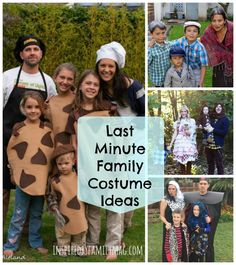 Last Minute DIY Family Halloween Costumes - love these ideas and many of them are no-sew!!!