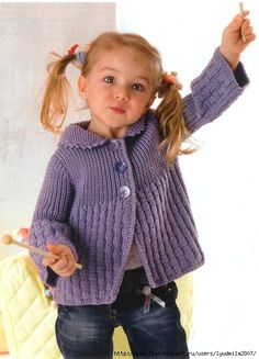 (no title) – Knitted Sweater Bloğ Kids Knitting Patterns, Baby Sweater Knitting Pattern, Crochet Baby Cardigan, Crochet Cardigan Pattern, Baby Hats Knitting, Knitting For Kids, Baby Patterns, Baby Pullover, Knitted Coat