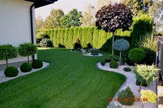 Popular Modern Front Yard Landscaping Ideas 16 – Landscaping Your Home - Garten Dekoration Modern Front Yard, Front Yard Design, Back Gardens, Outdoor Gardens, Modern Gardens, Garden Modern, Contemporary Landscape, Small Gardens, Front Garden Landscape