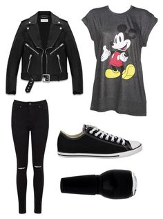 """""""Day at disneyland"""" by margot-52 ❤ liked on Polyvore featuring Miss Selfridge, Yves Saint Laurent and Converse"""