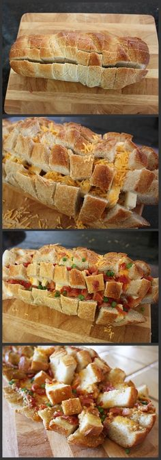 "Bacon Cheese Pull-Apart Bread.....I know this is not sweets, but it is a treat....cant think of it asactual ""food"""