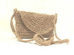 Jute Rope crochet Bag Messenger bag Shabby Chic Purse by Vera Crochet Pouf Pattern, Crochet Saco, Free Crochet Bag, Crochet Hat For Women, Irish Crochet, Diy Crochet, Crochet Handbags, Crochet Purses, Crochet Shoulder Bags