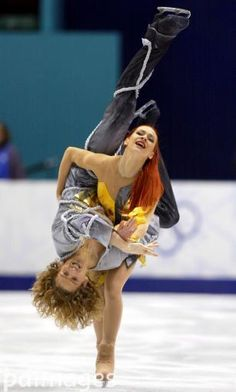 Marina Anissina and Gwendal Peizerat of France show their gold medal winning form in the free dance component of ice dance at the 2002 Salt Lake City Olympic Games on Monday Feb. Roller Skating, Ice Skating, Pairs Figure Skating, Stars On Ice, Ice Dance, Lift And Carry, Sports Pictures, Olympic Games, Gymnastics