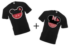 Mickey and Minnie Couples Shirts from Disney, Two T-shirts For 24.99  perfect for love gifts on Etsy, $24.99