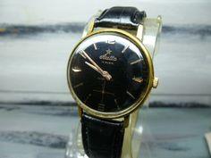 Vintage Swiss made men's watch Aretta 1950's -Ultrathin ,17 Jewels / Swiss watch / mechanical watch, leather