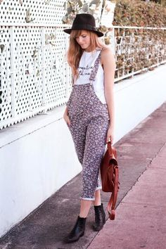 Late in the Day. #trend #floral #overalls