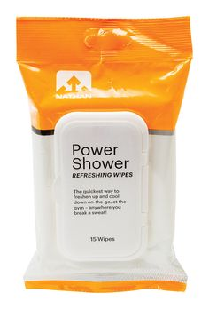 Nathan Power Shower Refreshing Body Wipes- No time for a post workout shower?  No problem!