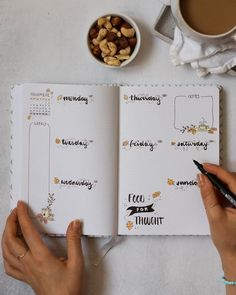 "Tanith | Berlin on Instagram: ""Bullet Journal Spread November 🙌🏽 • Since some of you were interested in my bullet journal I wanted to share my spread for this month -…"""