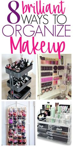 Makeup-Organisation 8 Must See Ideas To Organize Makeup in a Small Bathroom - Organization Obsesssed Organisation Hacks, Makeup Organizing Hacks, Small Bathroom Organization, Diy Bathroom Decor, Diy Organization, Bathroom Ideas, Bathroom Small, How To Organize Makeup, Makeup Hacks
