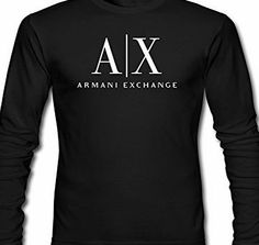 7d87ab1be Armani Exchange Logo For 2016 Mens Printed Long Sleeve tops t shirts No  description (Barcode