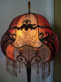 beautiful century style lamp shade on etsy Victorian Lamps, Antique Lamps, Victorian Lighting, Lantern Lamp, Chandelier Lamp, Chandeliers, I Love Lamp, Belle Epoque, Cool Lamps