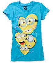 Bitter Sweet Girls Minion Love Turquoise Tee Shirt  zumiez.com