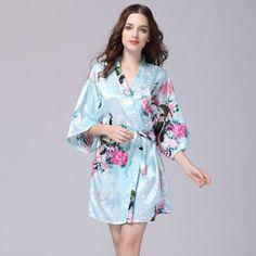 3356729bd4 2017 Sexy Robes Women Bath Robe Nightshirts Fashion Flowers Rayon ...