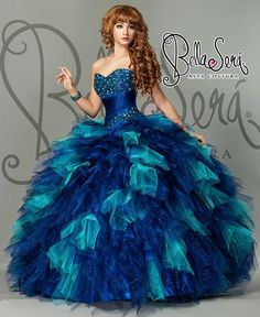 Thinking Winter Wonderland with this Quince Dress?: http://www.quinceanera.com/dresses/two-toned-quince-dresses-two-thumbs/?utm_source=pinterest&utm_medium=article&utm_campaign=011215-two-toned-quince-dresses-two-thumbs