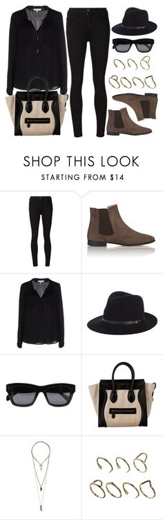"""""""Style #9898"""" by vany-alvarado ❤ liked on Polyvore featuring Goldsign, Barneys New York, Milly, rag & bone, CÉLINE, Relic and ASOS"""