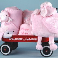 Puppy Love Deluxe Wagon-Girl  #BabyGiftCreations/SillyPhillieCreations #BabyProduct