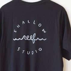 Shallow Reef Studio Logo T-shirt Black by TheShallowReefStudio