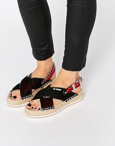 Love Moschino remixed the espadrille: http://asos.do/9Jrs9o