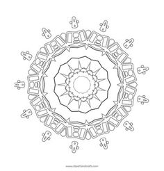 This has a very geometric feel, almost like some kind of alien design. Mandala 1 adult coloring page printablehttp://www.squidoo.com/mandala-coloring-adultcoloring