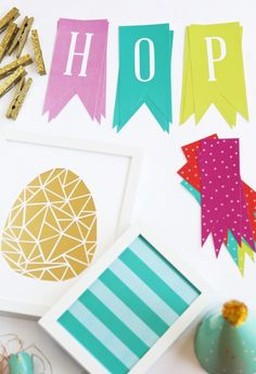 Free Printable Easter Decor via @PagingSupermom.com.com.com.com coordinates with #ohjoyfortarget #easter