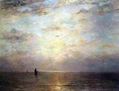 Hendrik Willem Mesdag, Zee met ondergaande zon, 1888, olieverf op doek, 140 x 180 cm, Musée d'Orsay, Parijs