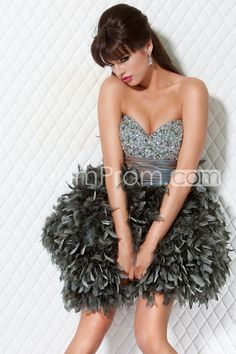 1aa5c03642 Luxurious Beading Sweetheart Mini Length Fur Skirt Prom Cocktail Dresses  Herve Leger