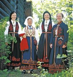 Hello all, This is the second part of my overview of the costumes of Norway. This will cover the central row of provinces in Eastern N. Folk Costume, Costumes, Norwegian Clothing, Norway In A Nutshell, Russian Fashion, Russian Style, Historical Costume, Heartland, Eastern Europe