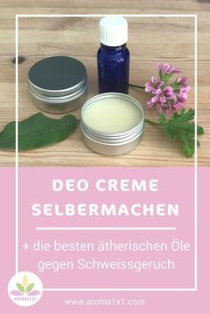 Deo mit Natron, Kokosöl & ätherischen Ölen selbermachen Do you have enough of questionable substances in your deodorant? I'll show you how to make a natural deodorant with soda, coconut oil and essential oils by yourself! Diy Deodorant, Make Your Own Deodorant, Natural Deodorant, Baking Soda Coconut Oil, Goji, Wine Bottle Crafts, Diy Skin Care, Natural Cosmetics, Diy Makeup