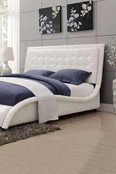 White Queen Bed by Coaster on @HauteLook