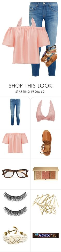 """Trying my best too keep my smile up when it's falling"" by morgankailah ❤ liked on Polyvore featuring rag & bone, Charlotte Russe, Rebecca Taylor, Topshop, Ray-Ban, Estée Lauder, Illamasqua and H&M"