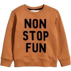 Sweatshirt $14.99 (48 BRL) ❤ liked on Polyvore featuring tops, hoodies, sweatshirts, shirts, sweaters, shirt top, ribbed top, long sleeve tops, h&m sweatshirt and orange long sleeve shirt