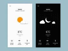Day & Night Ui  by Sameer Gurav #Design Popular #Dribbble #shots