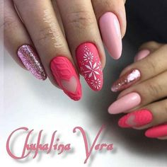 Warm And Cute Sweater Nail Ideas – Vida Joven Sweater nails that have become popular this year are loved more and more , especially in winter. Thick woolen coats with such nails seem to add a touch of warmth. Holiday Nail Art, Winter Nail Art, Christmas Nail Art, Winter Nail Designs, Christmas Nail Designs, Nail Art Designs, New Nail Art Design, Design Art, Love Nails