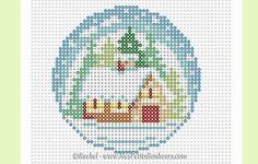 Christmas ornament hama mini bead pattern by Rachel